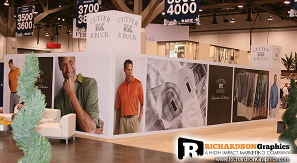 A Custom Richardson Graphics Tradeshow Booth in the Las Vegas Convetion Center