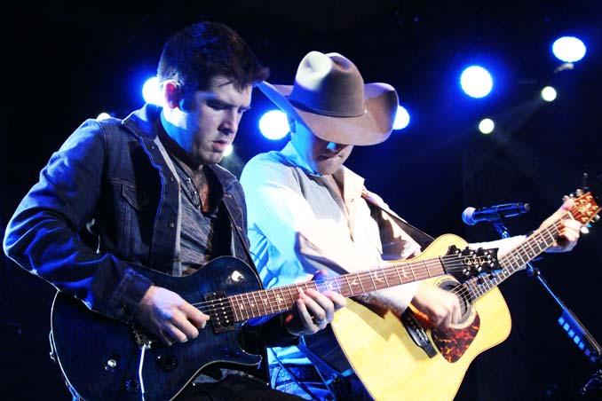 William Michael Morgan and his guitarist