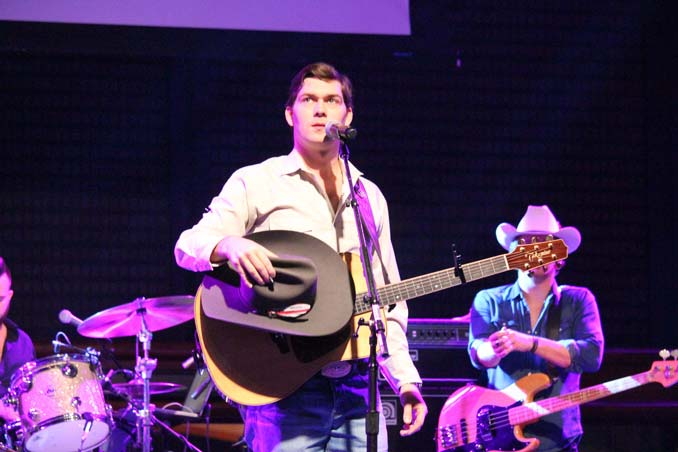 William Michael Morgan on stage at the NFR Vegas Rodeo