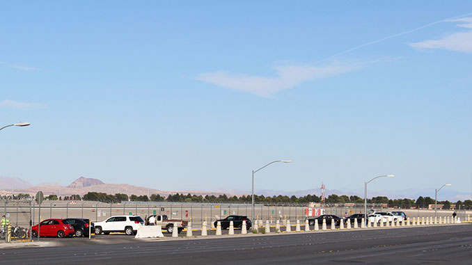 McCarran Airport Observation Parking Lot next to the Runway