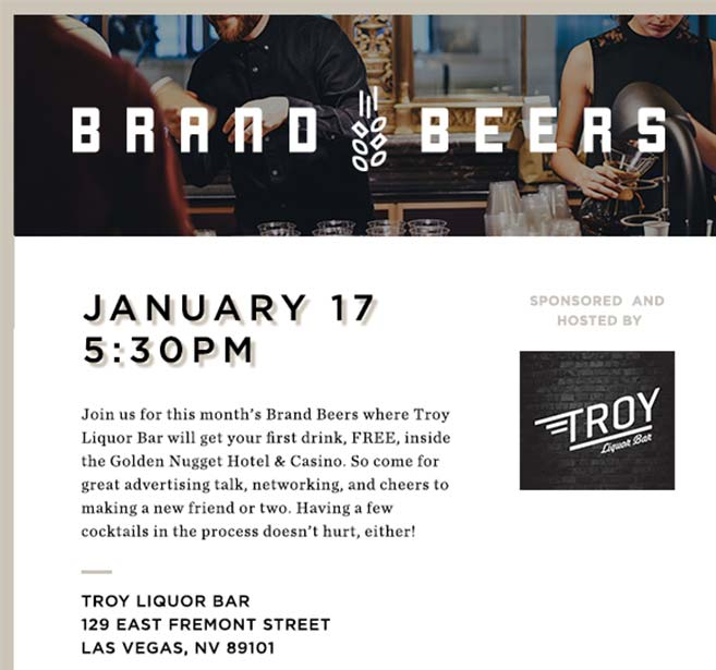 Brand Beers New Years Event