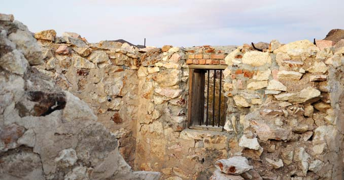 The old Jail Ruins in Bullfrog, Nevada