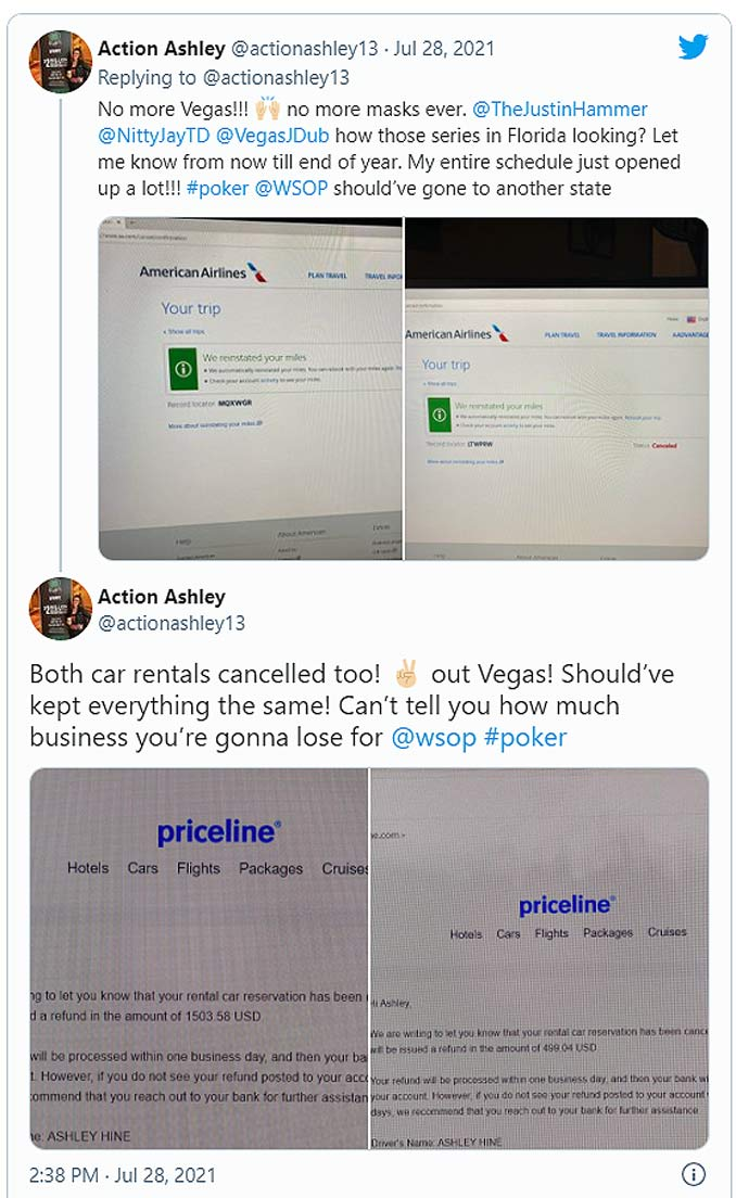 Las Vegas Trip Cancellations due to Mask Mandate