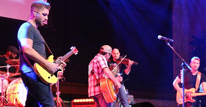 Casey Donahew and his band  at the NFR in Vegas