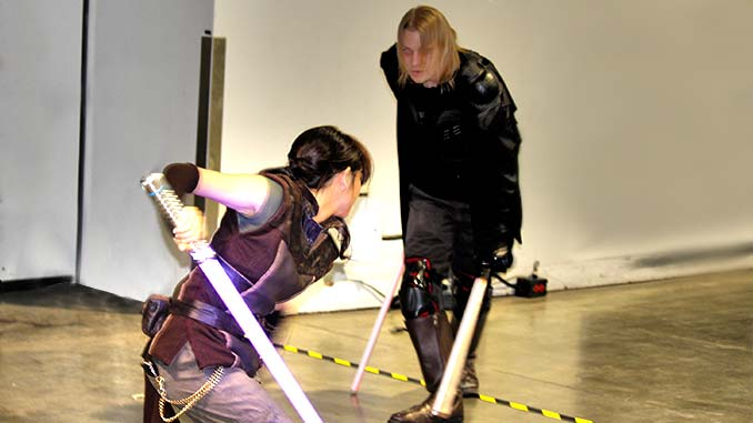 Comic-Con Star Wars Lightsaber battle