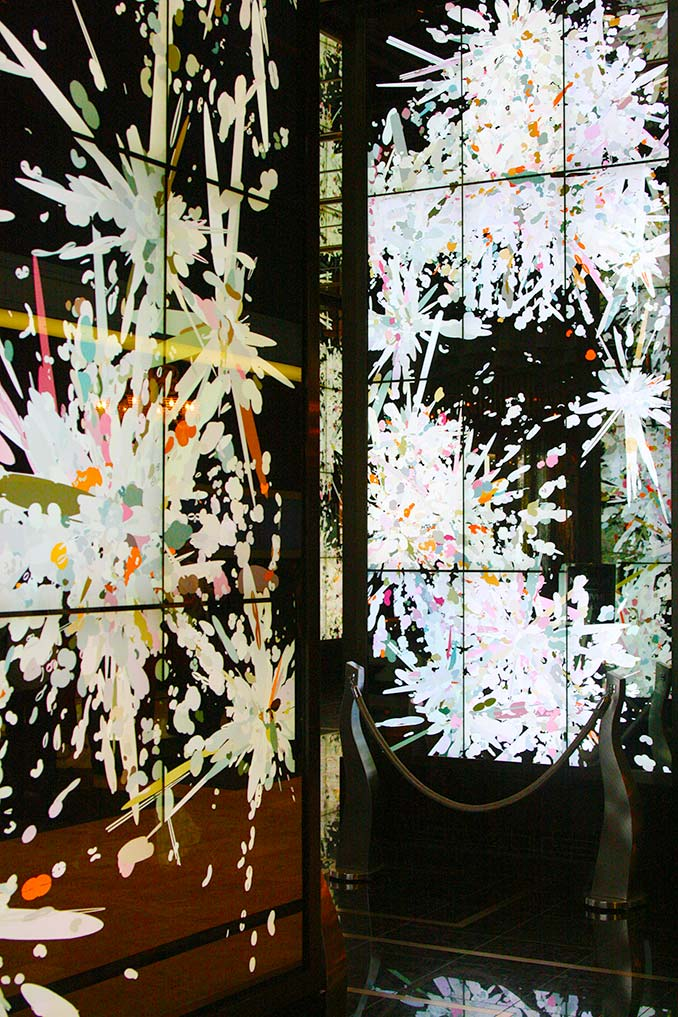 Digital Art Display in Cosmo Lobby