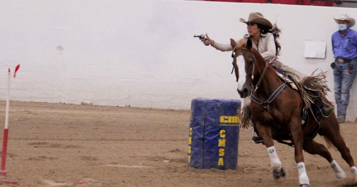 Cowboy Mounted Shooting Association event