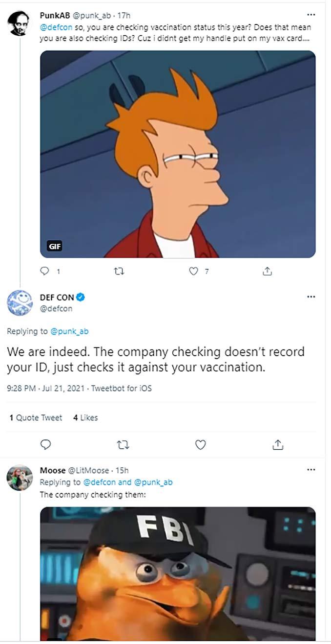 DEFCON vaccine passports