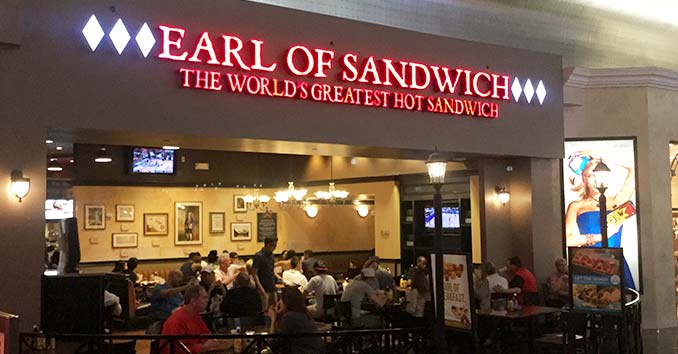 Earl of Sandwich inside The Planet Hollywood Hotel and Casino