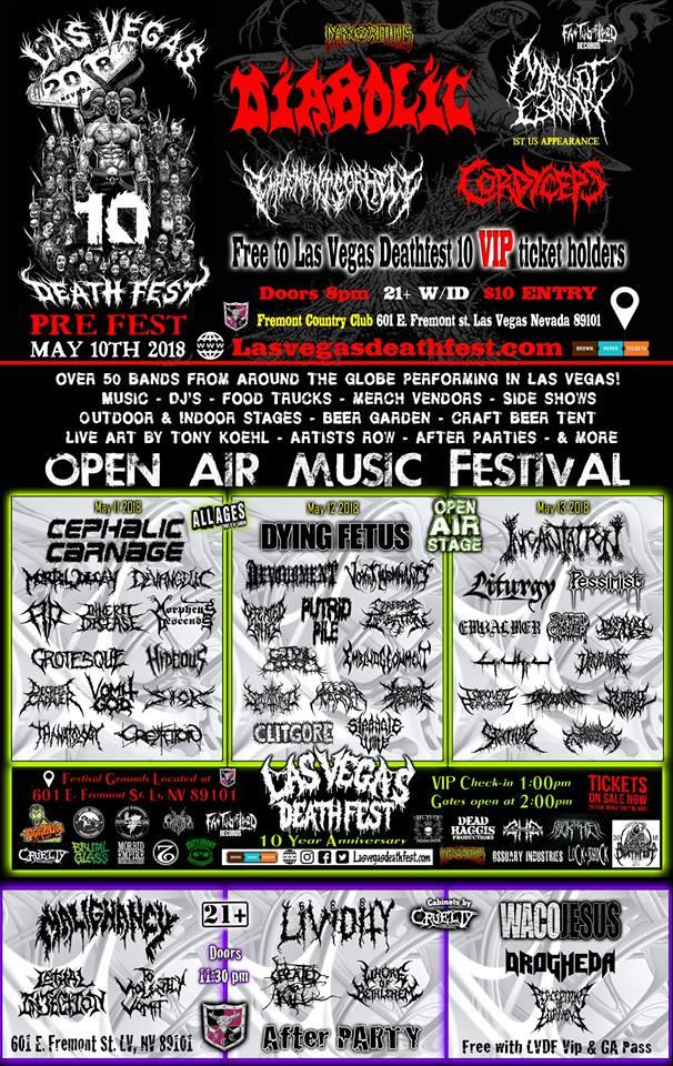 Las Vegas Death Fest Bands Flyer