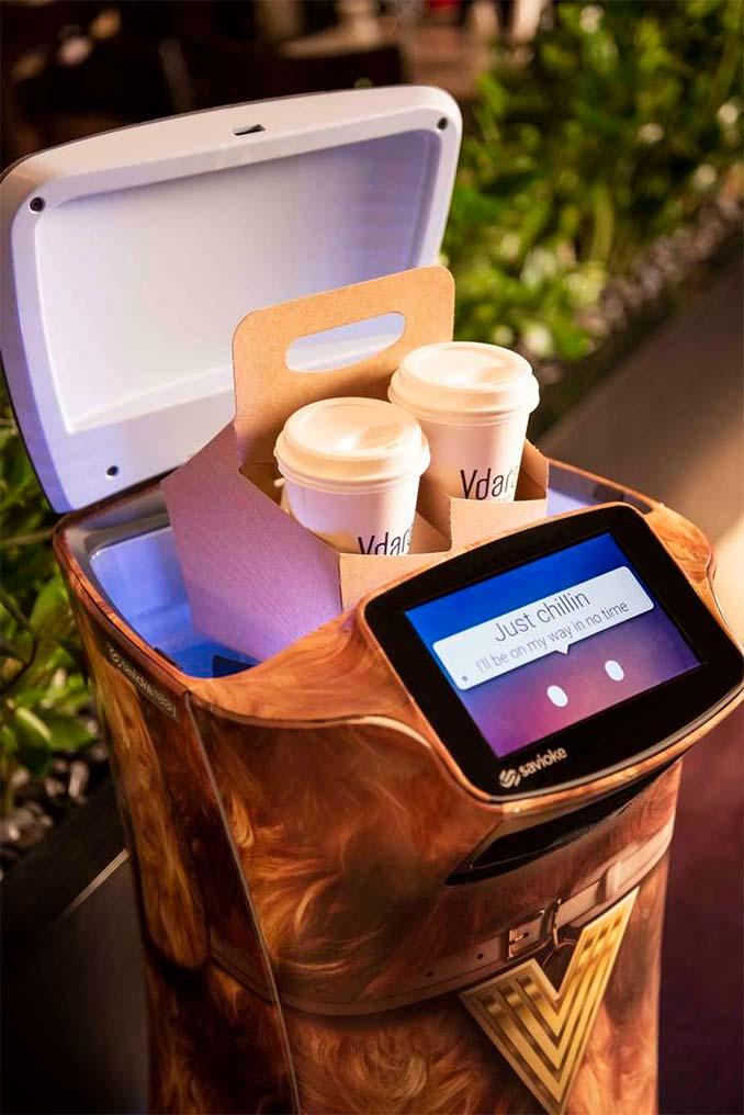 Robot delivering food in Las Vegas
