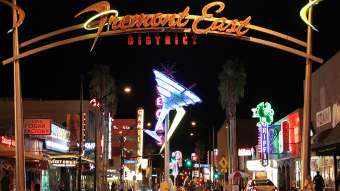 Fremont East Entertainment District in Las Vegas