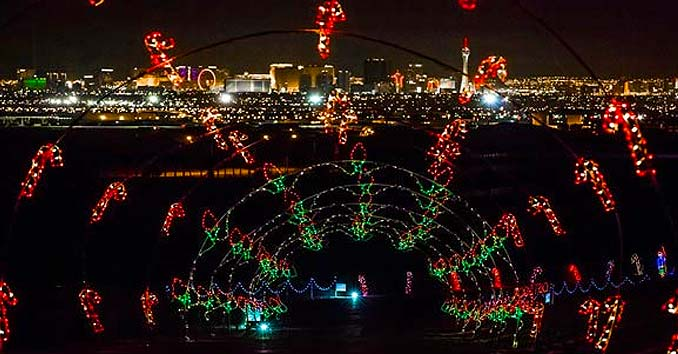Las vegas christmas 2017 christmas lights shows events for Glittering lights las vegas motor speedway