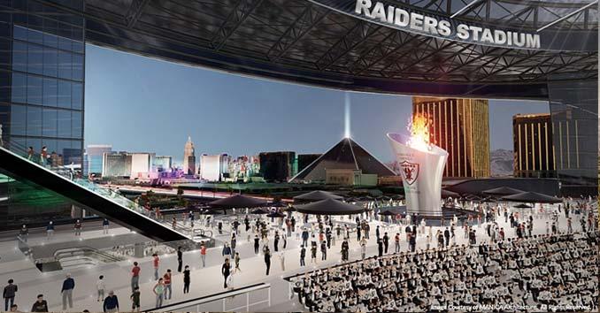 Las Vegas Raiders The Proposed Nfl Football Stadium In