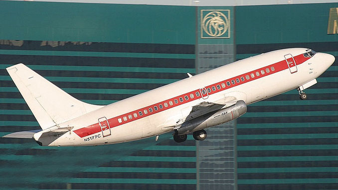 JANET Airlines taking off from McCarran Airport