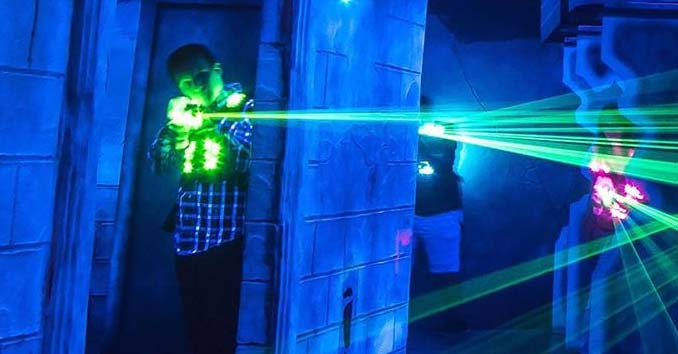 Playing Laser Tag