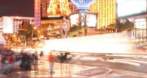 People Walking on The Las Vegas Strip