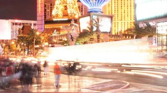 People Walking on The Las Vegas Strip