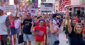Mandate Protest on the Las Vegas Strip