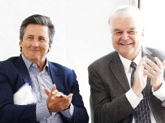 MGM CEO Zimbio Bill Hornbuckle and Steve Sisolak
