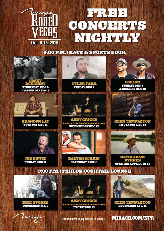 Official NFR Rodeo Country Concerts at the Mirage