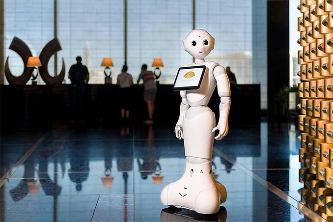 Pepper the Robot at Mandarin Oriental Las Vegas