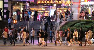 Front of Planet Hollywood