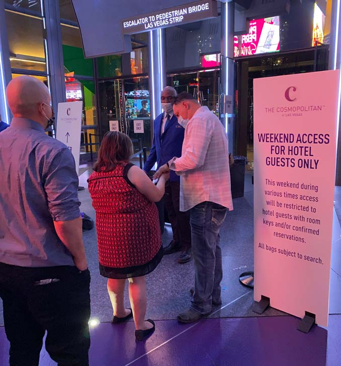 Restricted Access at the Cosmopolitan of Las Vegas