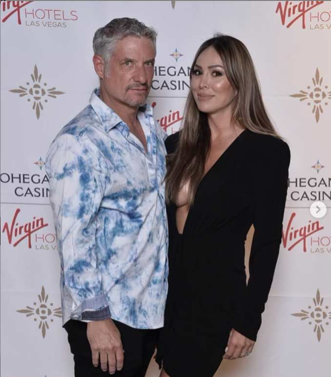 Bravo TV's Real House Wives of Orange County Kelly Leventhal and Rick Leventhal, Mask-Free at Virgin Opening