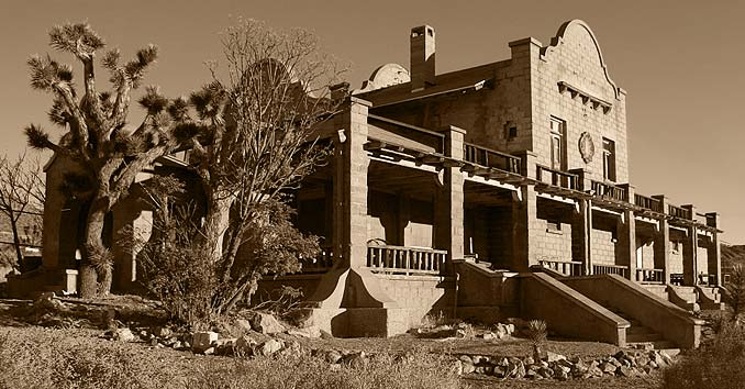 Old train station in Rhyolite, Nevada Ghost Town