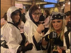 Jacky Rosen Susie Lee No Mask Party