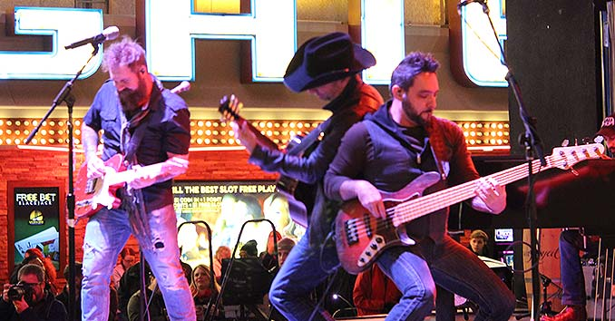 Craig Campbell Rocking with his band at the 30th annual Hoedown on Fremont Street in Las Vegas