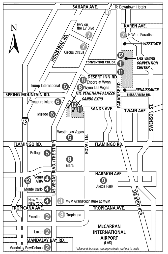 CES Shuttle Map