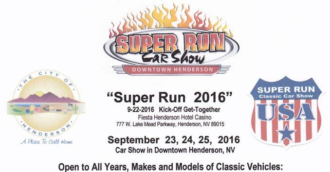 Super Run Car Show Flyer Network In Vegas - Car show henderson nv