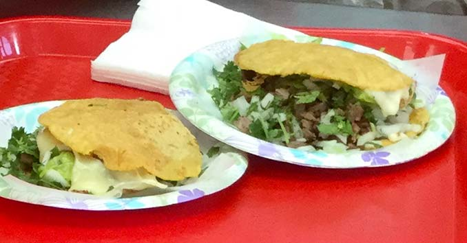 Al Pastor Mulas from Tacos El Gordo on the Las Vegas Strip