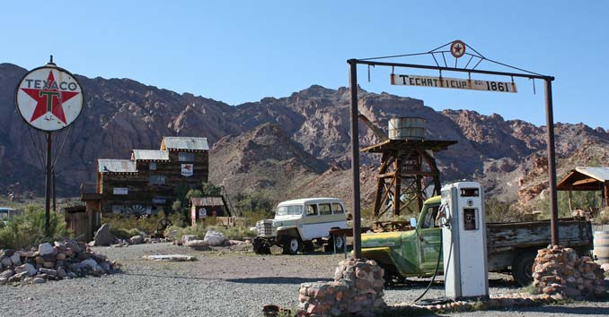 Techatticup Mining Town at Eldorado Canyon in Nelson, Nevada