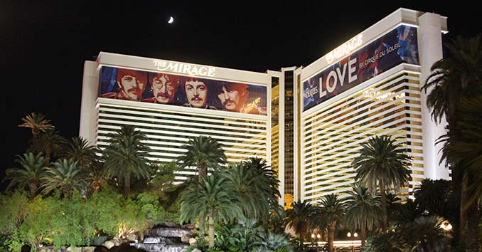 The Mirage Hotel and Casino from the Las Vegas Strip