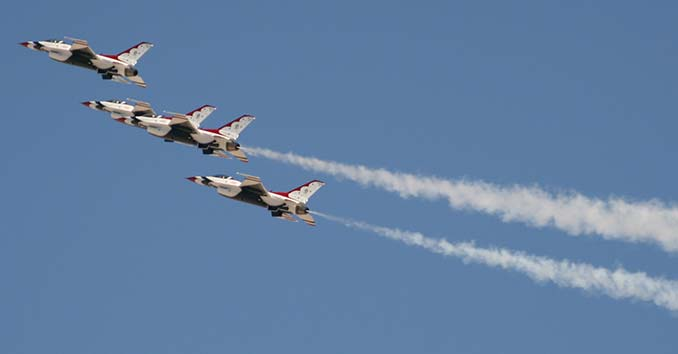 The Thunderbirds Flying