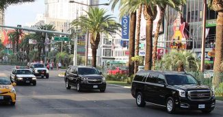 Trump's Motorcade in Las Vegas